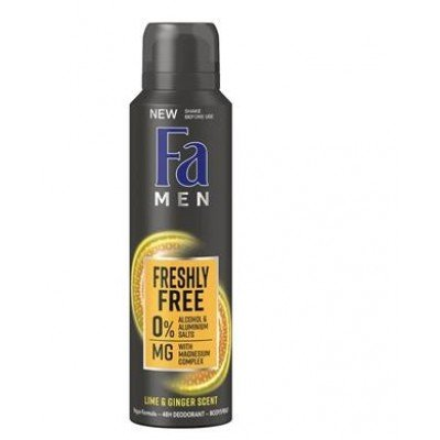 FA DEO MEN FRESHLY FREE LIME&GINGER 150ML